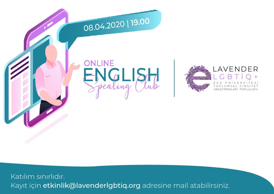 Lavender, Online English Speaking Club'a çağırıyor | Kaos GL - LGBTİ+ Haber Portalı
