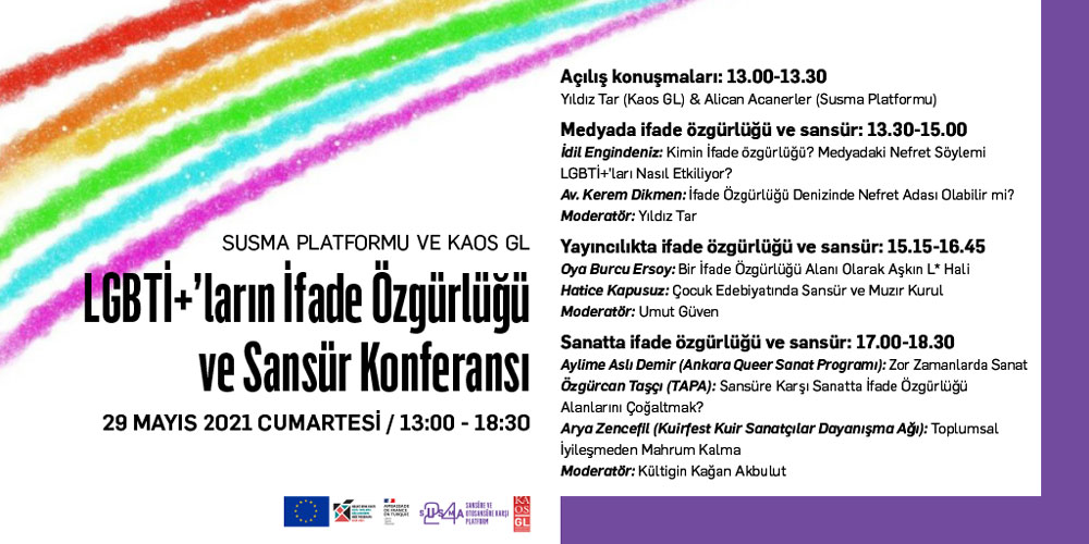 """""""LGBTİ+'ların İfade Özgürlüğü ve Sansür"""" konferansına davetlisiniz! Kaos GL - LGBTİ+ Haber Portalı"""